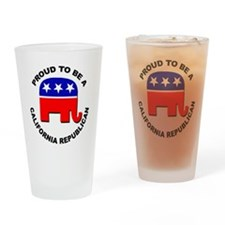 Proud California Republican Drinking Glass