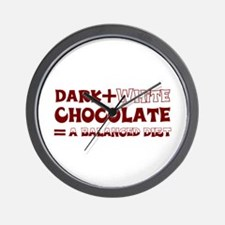 Chocolate Diet Wall Clock