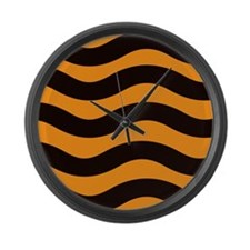 Cantaloupe Black Stripes Large Wall Clock