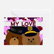 Happy Anniversary - To Wife Police Greeting Cards