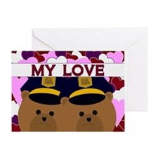 Happy Anniversary To Husband Police Greeting Cards