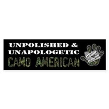 Unpolished Camo Americansticker Bumper Bumper Sticker
