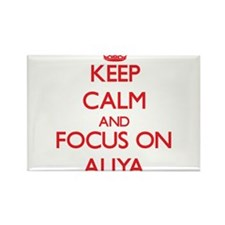 Keep Calm and focus on Aliya Magnets