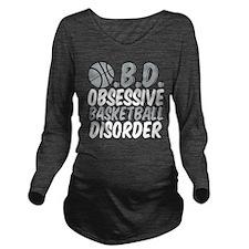 Basketball (Grey) Long Sleeve Maternity T-Shirt