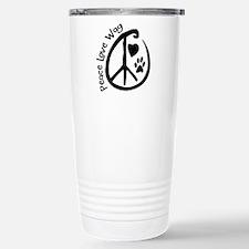 Peace Love Wag Stainless Steel Travel Mug