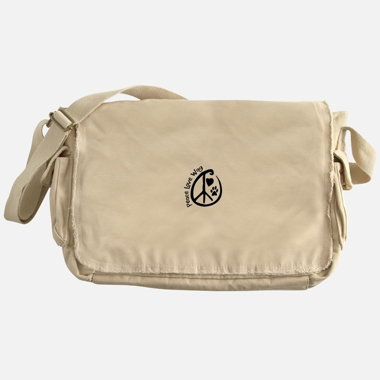 Peace Love Wag Messenger Bag