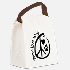 Peace Love Wag Canvas Lunch Bag