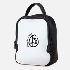 Peace Love Wag Neoprene Lunch Bag