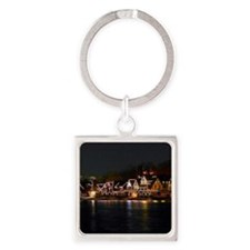 Light Houses in Philly Square Keychain