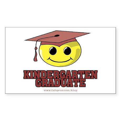 Kindergarten Graduate Rectangle Sticker