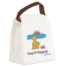 At the Beach Canvas Lunch Bag
