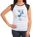 Stork Visit Boy Women's Cap Sleeve T-Shirt