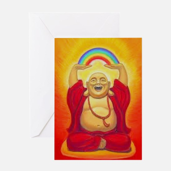 Big Happy Buddha Greeting Cards