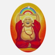 Big Happy Buddha Ornament (Oval)