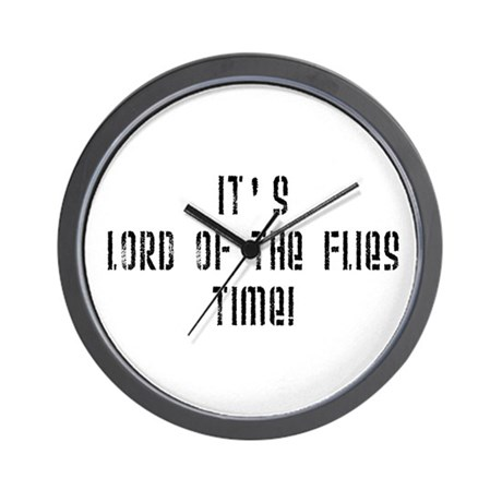 It's Lord Of The Flies Time! Wall Clock