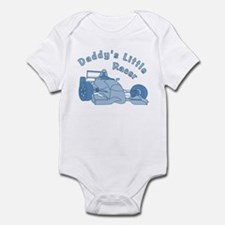 Daddy's Little Racer In Blue Infant Bodysuit