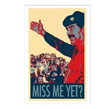 Saddam Miss Me Yet? Postcards (Package of 8)