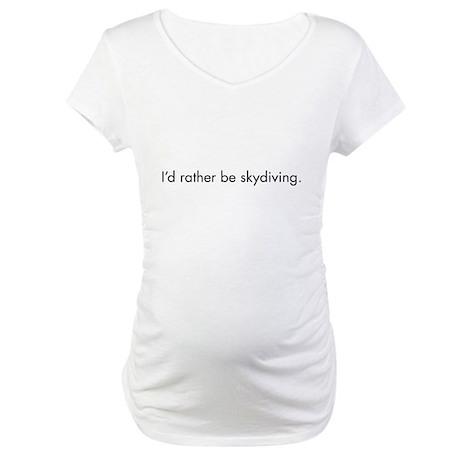 Skydiving Maternity T-Shirt