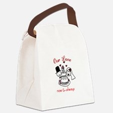 Our Love now & always Canvas Lunch Bag