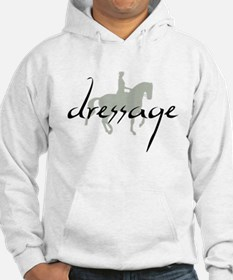 Dressage Silhouette Text Hoodie