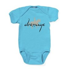 Dressage Silhouette Text Baby Bodysuit