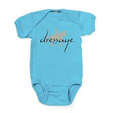 Dressage Silhouette Text Baby Bodysuit