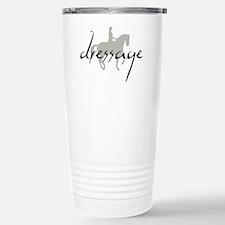 Dressage Silhouette Text Travel Mug