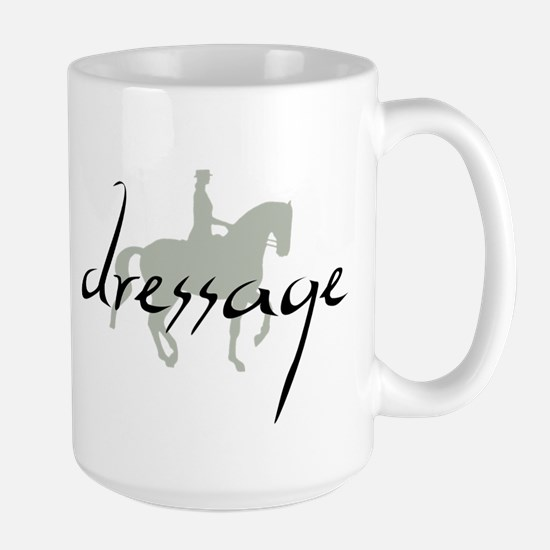 Dressage Silhouette Text Mugs