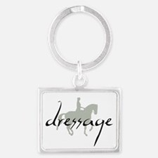 Dressage Silhouette Text Keychains