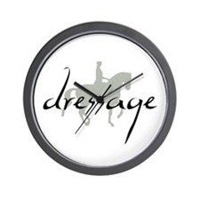 Dressage Silhouette Text Wall Clock