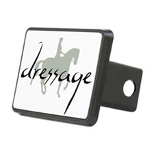 Dressage Silhouette Text Hitch Cover
