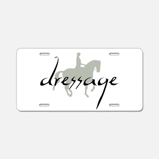 Dressage Silhouette Text Aluminum License Plate