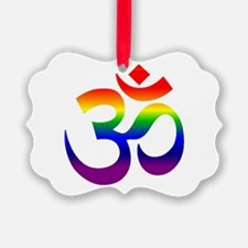 big rainbow om Ornament