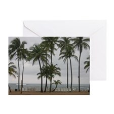 Beach Palm Trees Greeting Cards (Pk of 10)