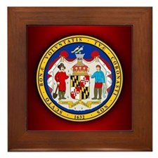 Maryland Seal.png Framed Tile
