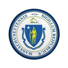 """Massachusetts Seal 3.5"""" Button"""