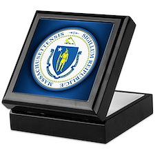Massachusetts Seal Keepsake Box