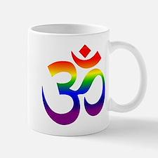big rainbow om Mugs