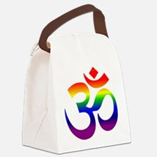 big rainbow om Canvas Lunch Bag