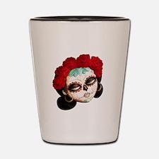 El Dia de Los Muertos Girl Shot Glass