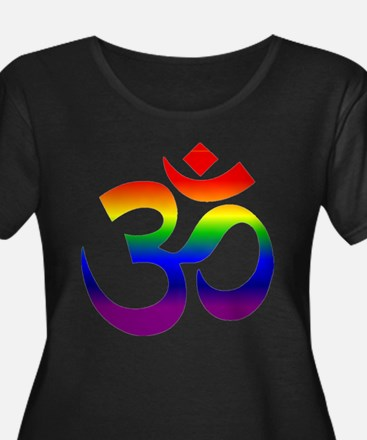 big rainbow om Plus Size T-Shirt