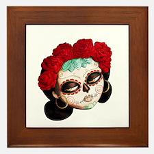 El Dia de Los Muertos Girl Framed Tile