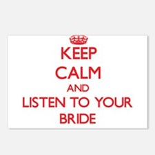 Keep Calm and Listen to your Bride Postcards (Pack