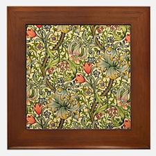 William Morris Golden Lily Framed Tile