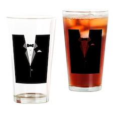 Tuxedo Art Drinking Glass