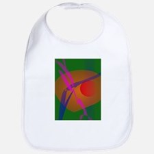 Simple Abstract Composition Green Bib