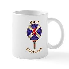 Saltire golf Scotland red tartan Mugs