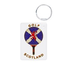 Saltire Golf Scotland Red Tartan Keychains