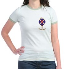 Saltire Golf Scotland Red Tartan T-Shirt