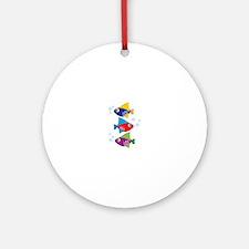 Colorful Fish Ornament (Round)